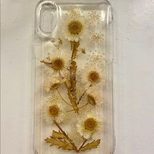 iPhone X Pressed Flowers Phone Case